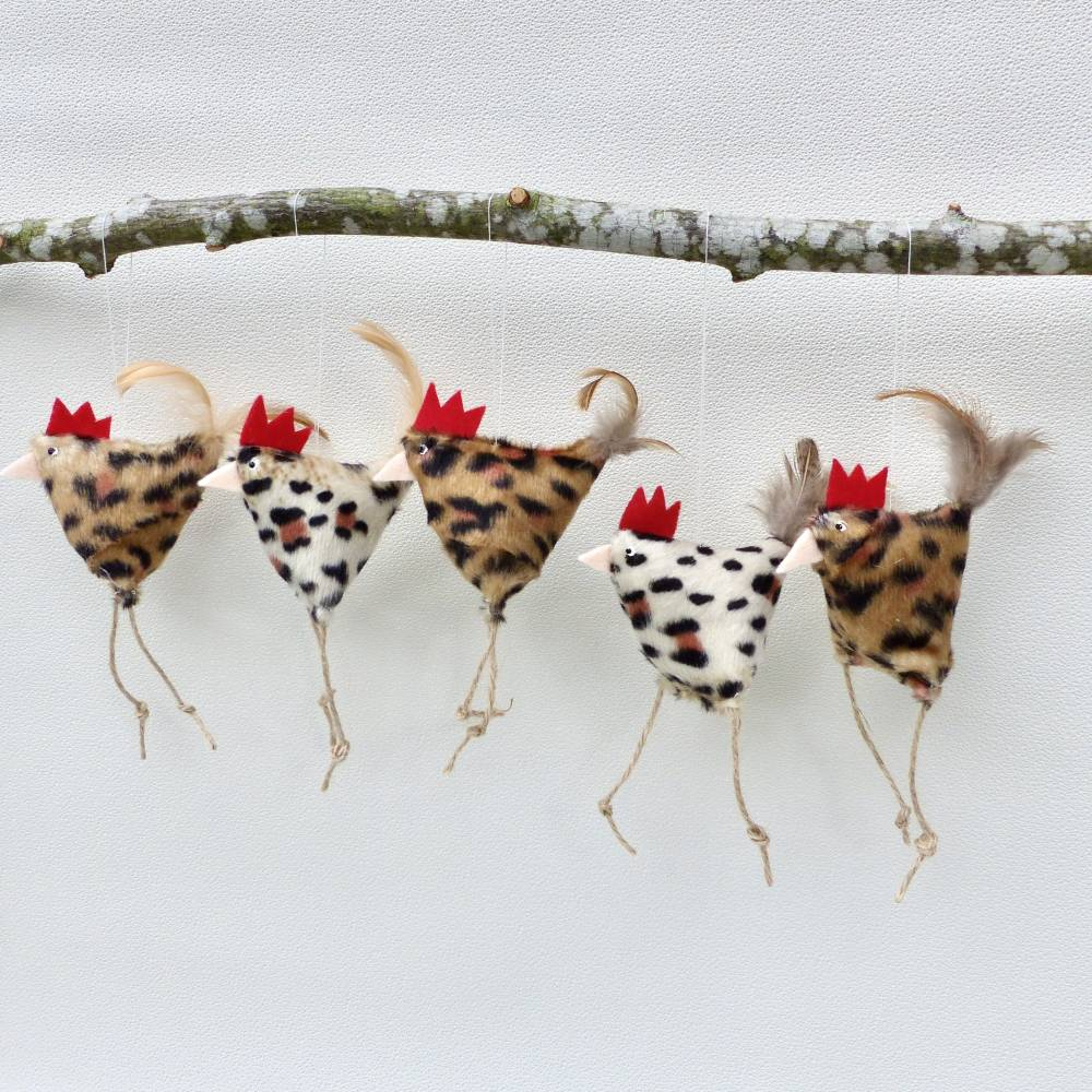 2 Hühner, Osterdeko Huhn, Deko Leo-Huhn Bild 1