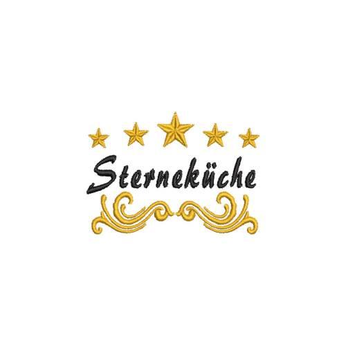 Stickdatei Sterneküche 5 Sterne 10x10 Rahmen