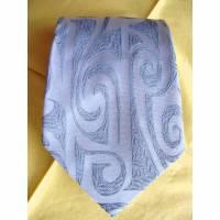 Vintage Krawatte edel in silbergrau aus den 70er Jahren  Bild 1