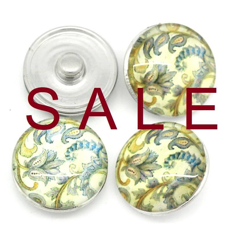 SALE! Druckknopf, Druckknöpfe, Button, Druckknopfbutton, Blumen im Vintage-Stil,  statt 2,99 Euro jetzt 0,60 Euro Bild 1