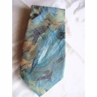 Vintage Krawatte in grün-bunt aus den 70er Jahren Bild 1