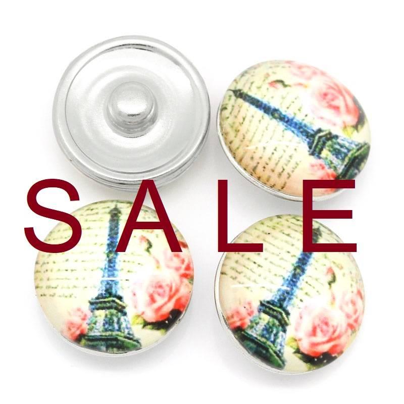 SALE! Druckknopf, Druckknöpfe, Button, Druckknopfbutton, Paris,  statt 2,99 Euro jetzt 0,60 Euro Bild 1