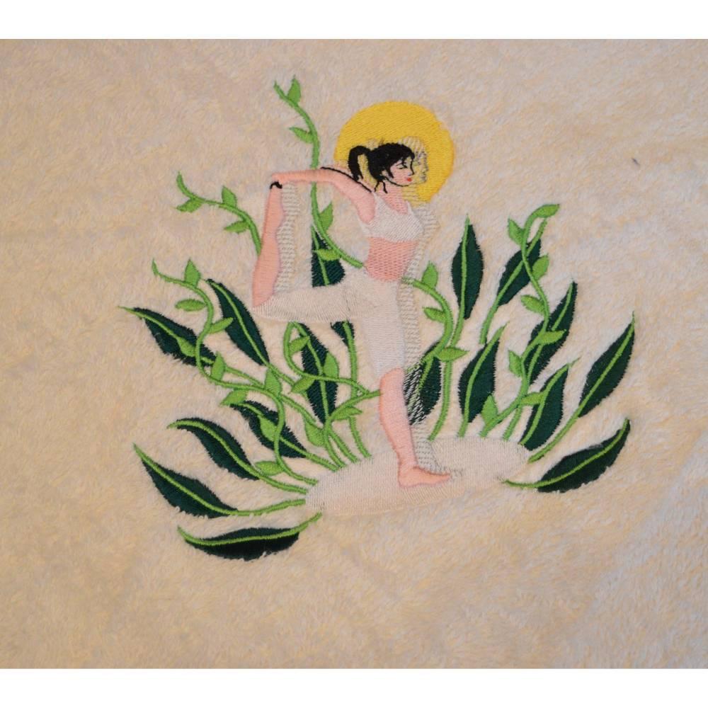 Handtuch Duschtuch Yoga männlich oder weiblich Bild 1