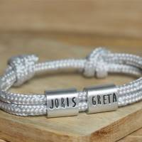 Herren Armband personalisiert mit Namen handgestempelt | Geschenk Mann | personaliertes Männerarmband