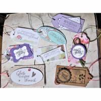 8 Geschenkanhänger Set  verschiedene Anlässe und Größen   #2 Bild 1