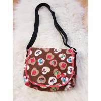 Umhängetasche Handtasche kleine Tasche Handmade Geschenkidee Unikat Baumwolle Schultertasche Kindergartentasche Zwerg Frosch Bild 1
