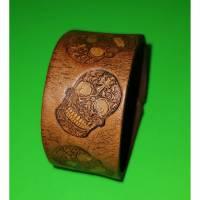 LEDER Armband Totenkopf (RLA7)  Bild 1