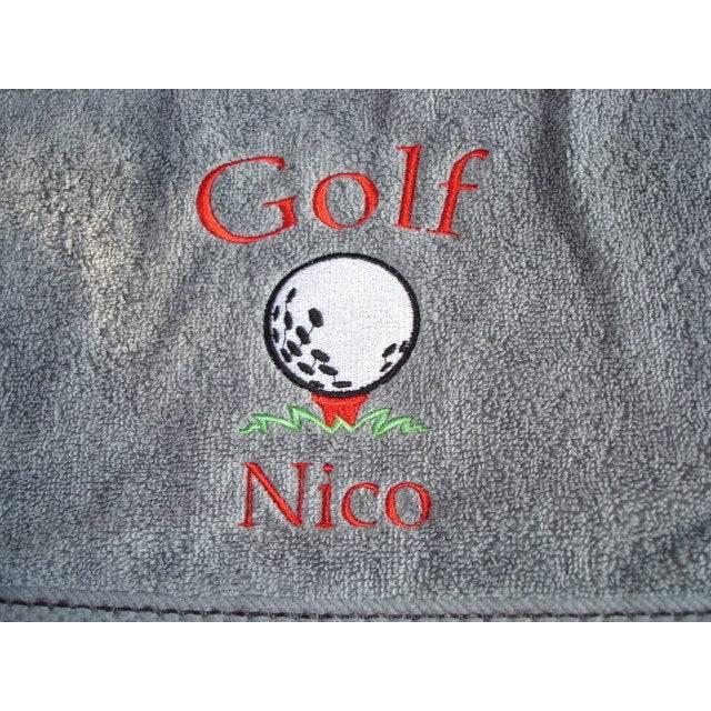 Golftuch / Schlägertuch mit Namen und Motiv Bild 1