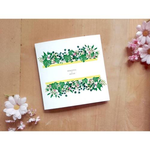 Hochzeitsdesign Greenery Girlande Printable DIY