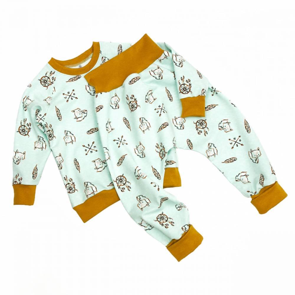 Set Pullover Pumphose Baby Kinder Jungs Mädchen Sweat angeraut Öko-Tex Fuchs Traumfänger Gr. 56 62 68 74 80 86 92 98 104 110 116 122 128 Geschenk  Bild 1
