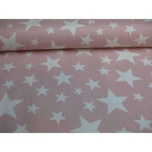HILCO Baumwolle Jeansstoff Sterne Stars rosa Ökotex Oeko-Tex Standard 100(1m/13,-€)