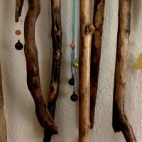 Fröhliche Treibholz - Deko für Balkon, Garten oder Terrasse, mit leisen Klängen   Bild 2