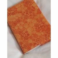 Buchhülle Din A6  Notizbuchhülle incl. Notizbuch orange Bild 1