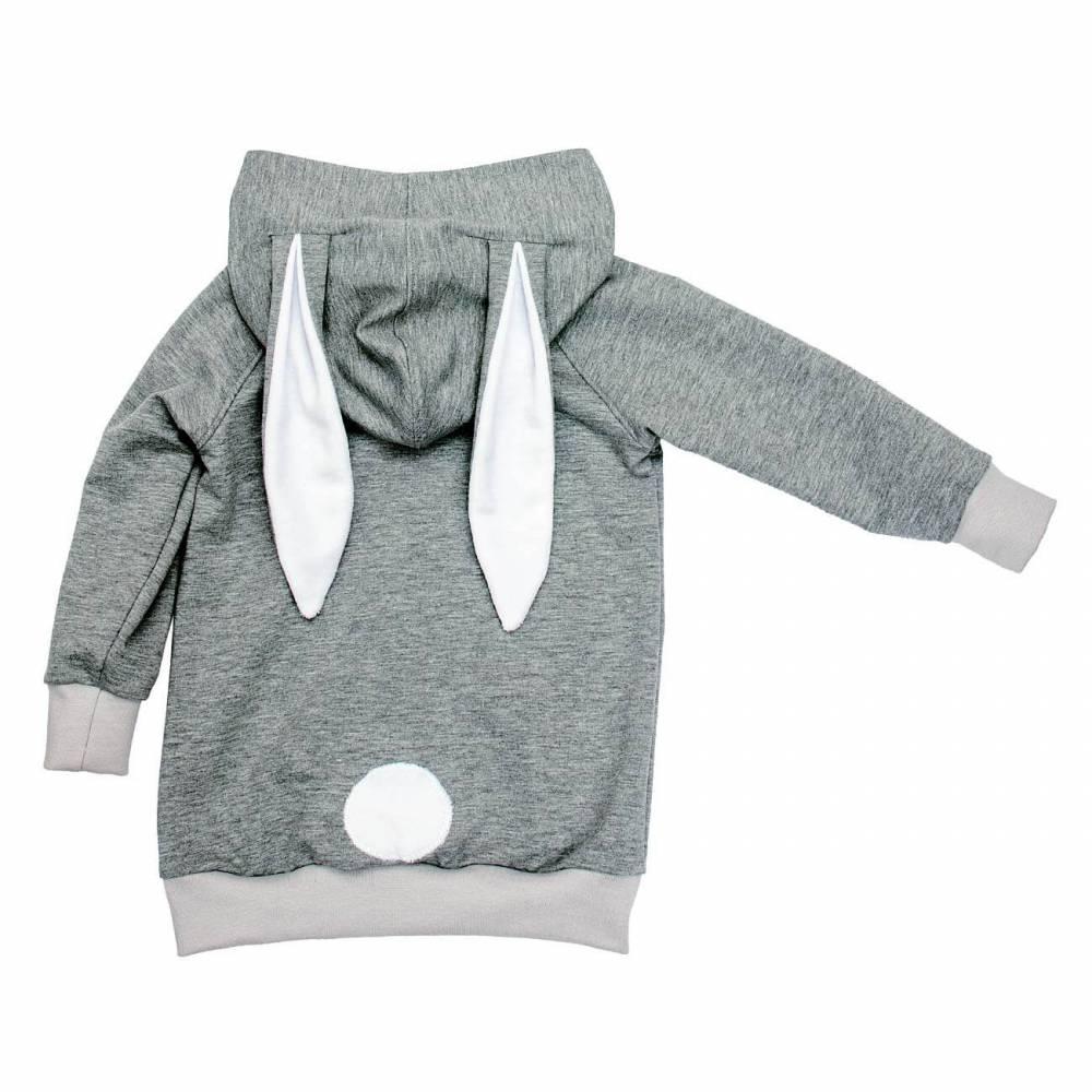 Pullover Hoodie Baby Kinder Jungen Mädchen Kapuze Hasenohren Geschenk Ostern Geburt Sweat Gr. 68 74 80 86 92 98..bis 164 Bild 1