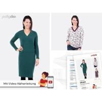 Schnittmuster Papierschnittmuster  Grace Shirt + Kleid  by pattydoo  Gr 32- 54 (1 Stück/9,- €) Bild 1