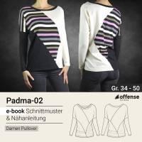 "Damen Pullover ""Padma-02"" in Größe 34-50 - Schnittmuster + Schritt-für-Schritt Nähanleitung Bild 1"