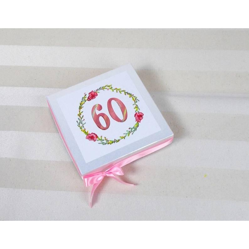 Geldgeschenk 60.ter Geburtstag, rosa, Gutscheinverpackung, Box, Geschenkverpackung, Geburtstagsgeschenk Bild 1