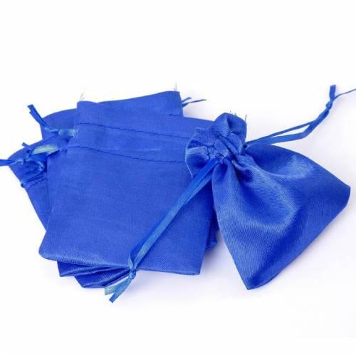 30 Beutel ,Säckchen, Satinsäckchen, Satinbeutel, Schmuckbeutel, blau, 10x8 cm