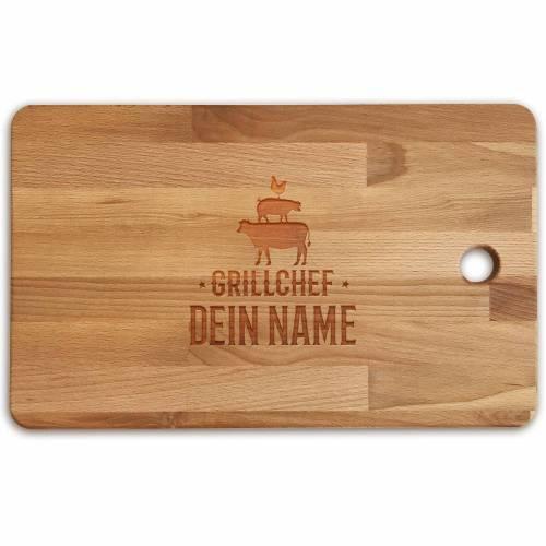 Schneidebrett personalisiert Gravur Bambus o. Buche MEAT Holzschneidebrett individuell graviert Namen Küchenbrett Grillbrett Geschenk