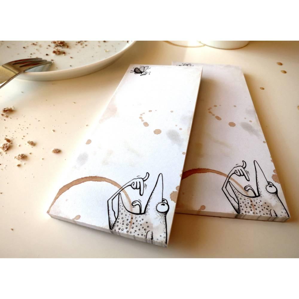 """Notizfrosch """"Guten Appetit"""", 2 Stück, 2 Notizblöcke, Einkaufen, Einkaufszettel, Notizbuch, Schreibblock, Frosch Notizblock, Guten Appetit Bild 1"""
