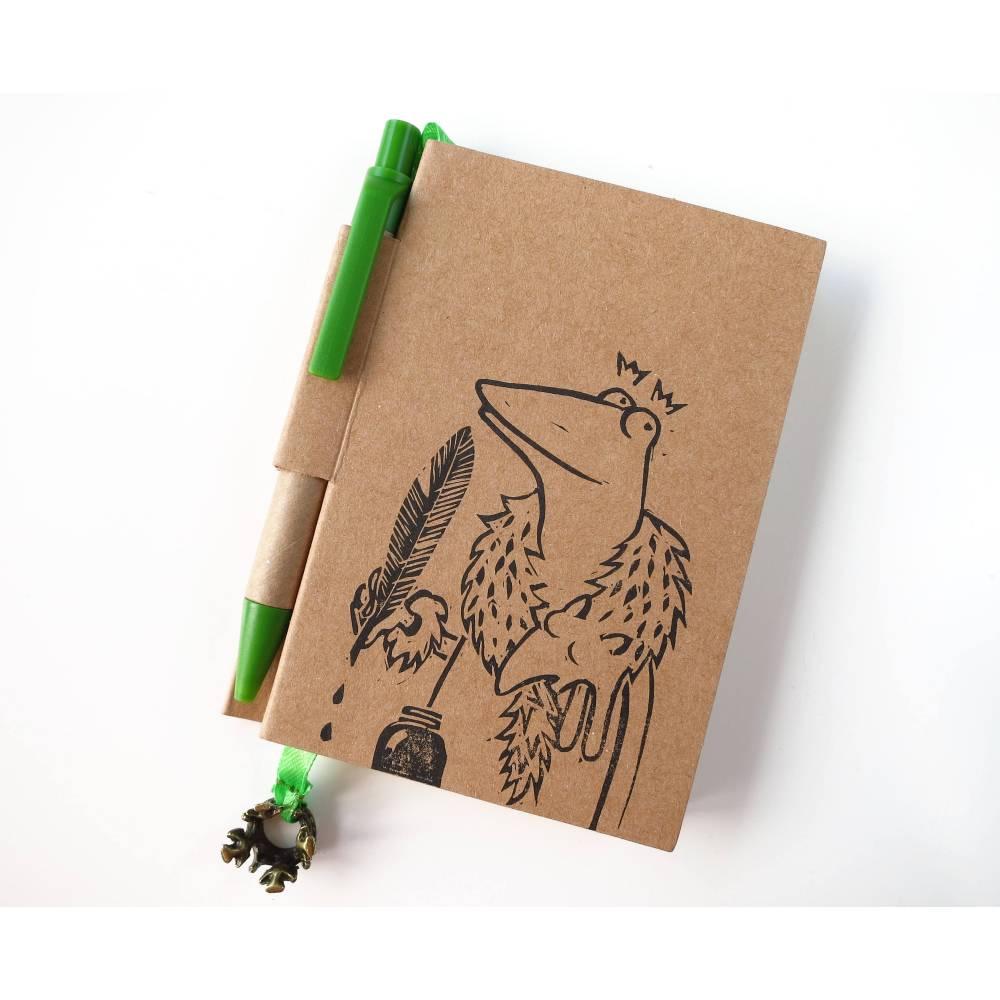 Königliche Froschnotiz, Notizbuch, Notizblock Bild 1