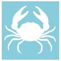 Velouraufbügler Krabbe weiß 5 x 5 cm  Bild 1