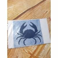 Velouraufbügler Krabbe blau 9 x 9 cm  Bild 1
