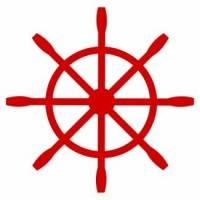 Velouraufbügler Steuerrad rot 9x9 cm Bild 1