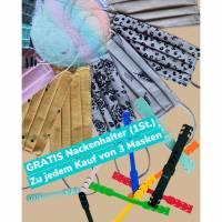 Behelfsmund- und Nasenmaske mit Draht und Steckfach Bild 1