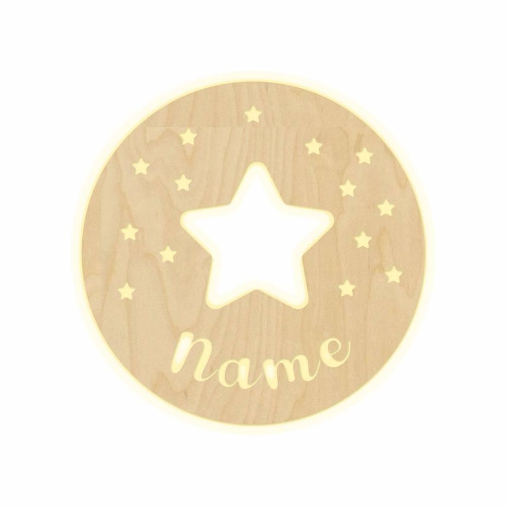 """Wandlampe """"Stars"""" Kinderzimmer personalisierte Lampe mit Namen Nachtlicht Leuchte Wandleuchte Dekoration Jungen Mädchen Baby Schlummerlicht Bild 1"""