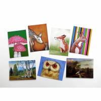 KUNZTPOSTKARTEN im 7er-Set, 7 Postkarten Bild 1