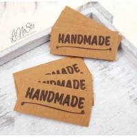 5 Snappap Label *Handmade* zum aufnähen  Bild 1