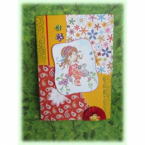 Süße Geburtstagskarte für Mädchen,Grußkarte, Kindergeburtstag,