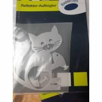 Reflektoraufbügler Katze 9 x 8 cm  Bild 1