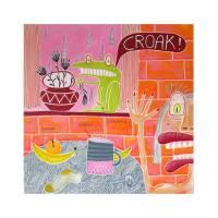 Der Hausfrosch, witziges Bild, Wohnzimmer Bild, Kinderzimmer Bild, Stilleben, Bilder, Portrait, Popart, Popkunst, Frosch Bild, Froschbild Bild 1