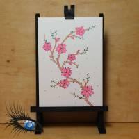 """[2020-0072] DinA5-Klappkarte """"Blüten - Ohne Thema"""" - handgezeichnet Bild 1"""