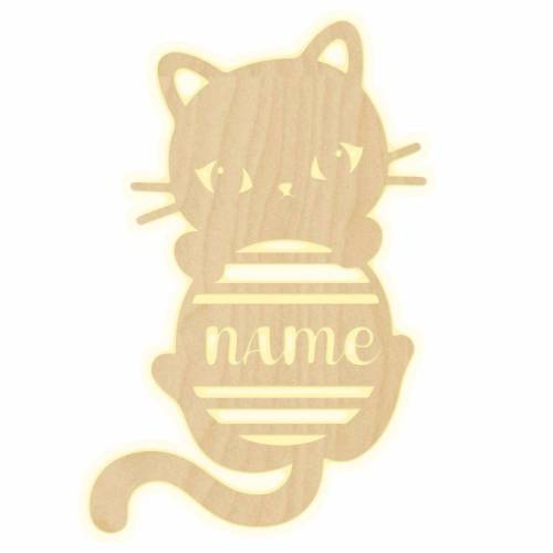 """Wandlampe """"Kitty"""" Kinderzimmer personalisierte Lampe mit Namen Nachtlicht Leuchte Wandleuchte Dekoration Jungen Mädchen Baby Schlummerlicht"""
