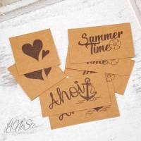 7 Snappap Label zum Aufnähen *Summer Time Ahoi* Bild 1