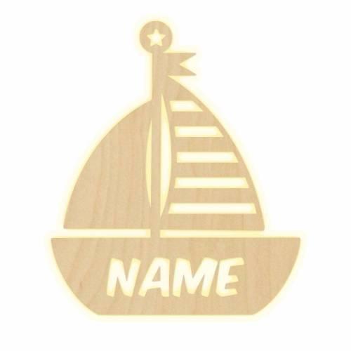 """Wandlampe """"Boot"""" Kinderzimmer personalisierte Lampe mit Namen Nachtlicht Leuchte Wandleuchte Dekoration Jungen Mädchen Baby Schlummerlicht"""