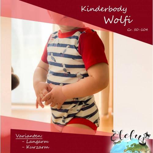 Kinderbody Wolfi - der etwas andere Body Gr. 50-104
