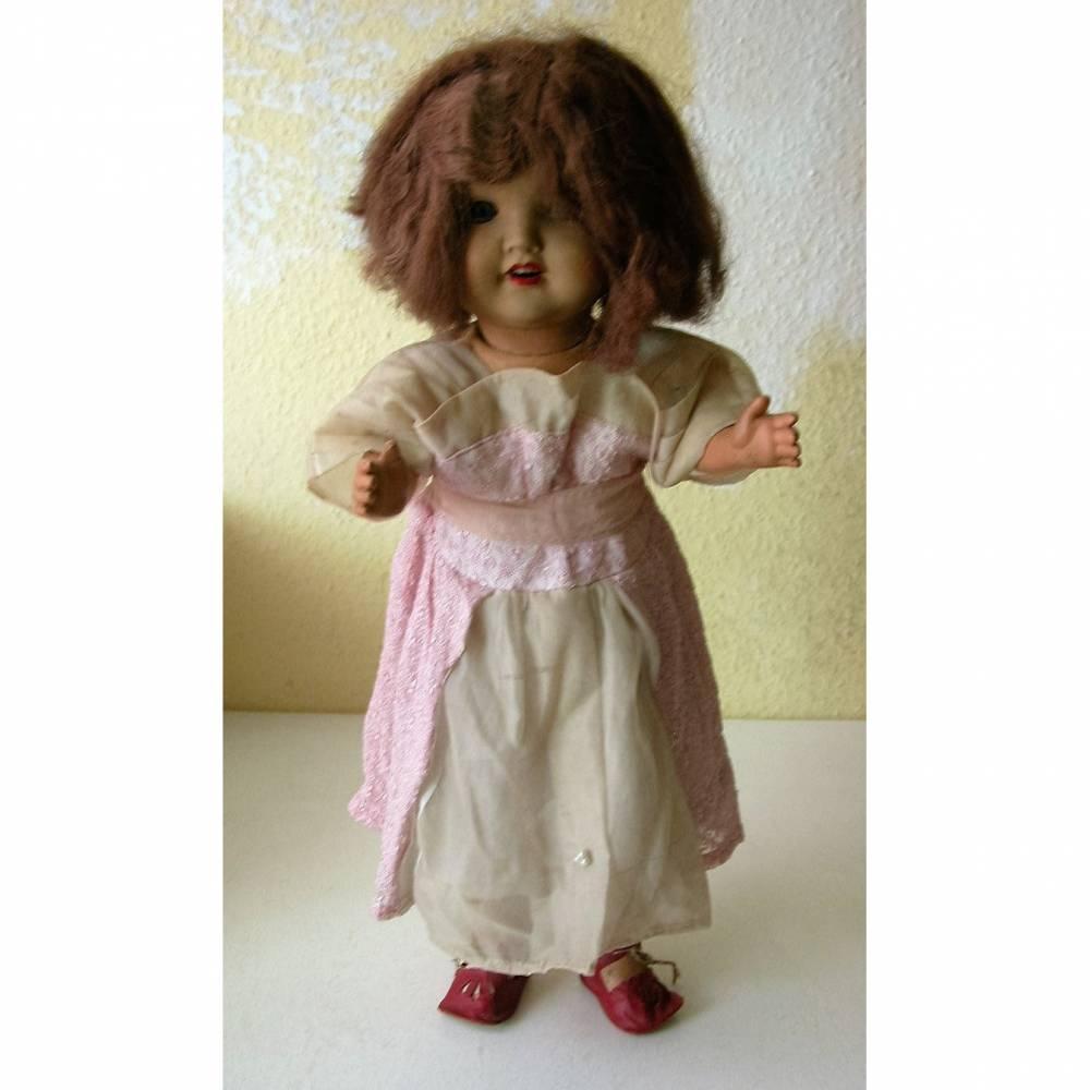 Original alte Puppe aus Thüringen/Sonneberg eine  Massepuppe gefertigt vor 1945  Bild 1