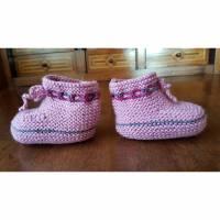 Babyschuhe alt-rosa Bild 1