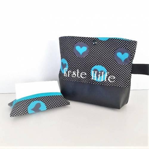 Reiseapotheke, Medizintasche, Notfalltasche mit Taschentüchertasche