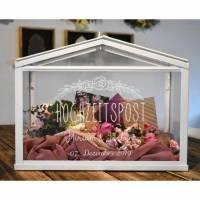 Hochzeitspost Box * Gewächshaus für Geldgeschenke und Karten zur Hochzeit, personalisiert Bild 1