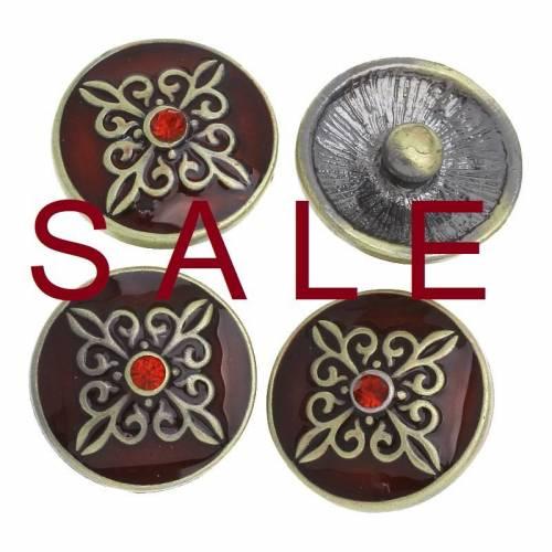SALE! Druckknopf, Button, Druckknopfbutton,Gr. L, Metall Strass und Emaille, bonzefarben, statt 4,99 Euro jetzt 1,99 Euro
