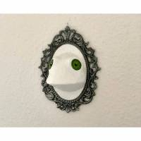 Raufaserfrosch, gerahmt, Frosch, Froschbild, Frosch Skulptur, weißer Frosch, 3D Frosch, Wandobjekt, Frosch Figur, witziges Froschbild, Bild 1
