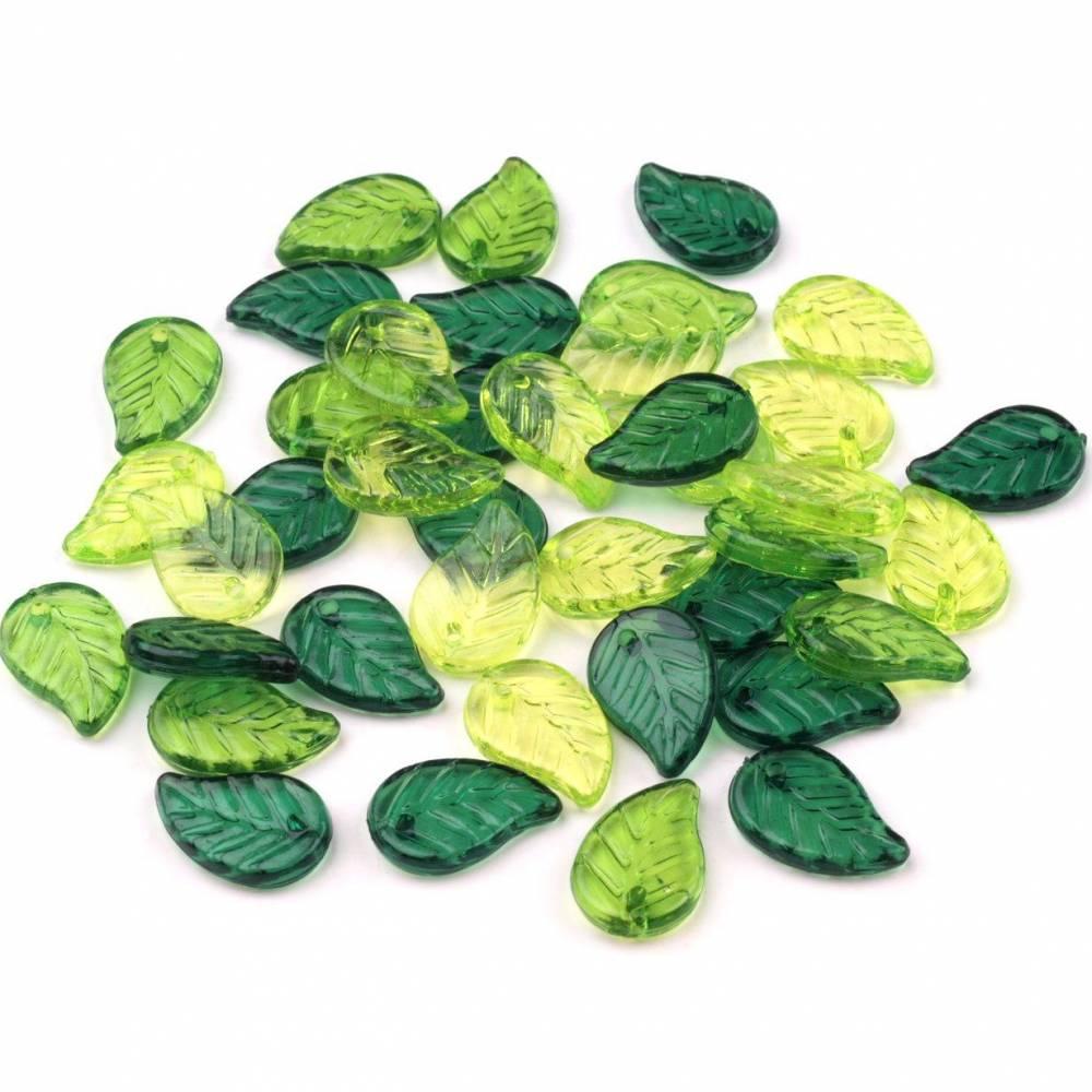Acrylperlen Blätter 15 mm Bild 1