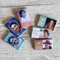 Gastgeschenk Geburtstag   Schokolade Schokotafel Vollmilch 7,5g   personalisiert Bild 1