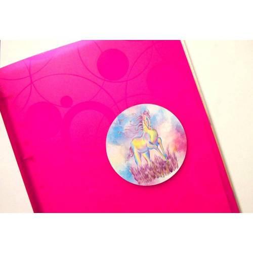 """Sticker-Set mit Pferdemotiv """"Rose"""" - 3 Sticker 10 cm für Brotdose, Notizbuch,...."""