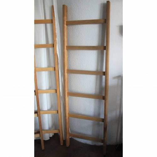Holzleitern aus hellem Holz 6 Sprossen